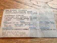 Kiss Stockholm Stadium Sweden 14th June 1997 Reunion Tour Ticket Gene Simmons