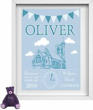 BABY GIRL | Personalised Picture | Christening | New Birth | FREE POST | (NP143)