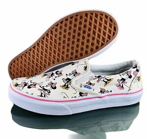 Vans x Disney Minnie Mouse Classic Slip On Sneakers Women's Size 8 RARE