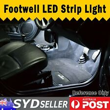 2x50cm LED Strip Auto Footwell Interior Trunk Undercar Light Self Adhesive White