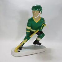 "Vintage 1973 Tuscany Studio Ceramic Chalkware Hockey Player NHL Sports Decor 11"""