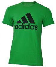 Camisetas de hombre verde adidas