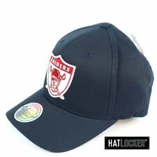 Mitchell & Ness - Oakland Raiders Red White Logo Navy Curved Snapback