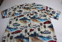 Island collection VTG Mustang Cars Island Hawaiian Camp Shirt XL Extra Large