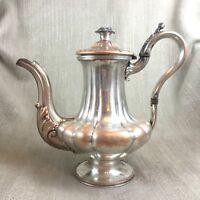 Antik Kaffeekanne Krug Alt Sheffield Silber Platte Original Frühe 19th Century