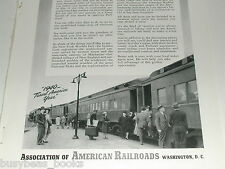 1940 Assoc of American Railroads ad, AAR, Train Travel