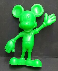 "1971 Marx Green Plastic 6"" tall Mickey Mouse Toy Figure Walt Disney Company"