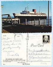Bluenose Ship Paasengers Bar Harbor Maine to Yarmouth Nova Scotia Postcard