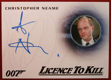 JAMES BOND - LICENCE TO KILL - CHRISTOPHER NEAME as Fallon - Autograph Card A261