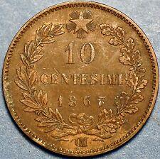 10 Centesimi 1867 IM Vittorio Emanuele II Strasburg Italian Kingdom