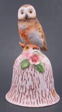 Vintage Owl with Flowers Bell