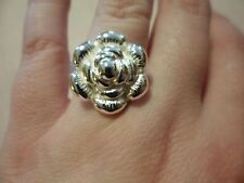 Stainless Steel Flower Ring-Size 7