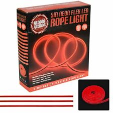 Flexible Neon LED Light Glow 5m String Strip Rope Tube Christmas Party Red 47510