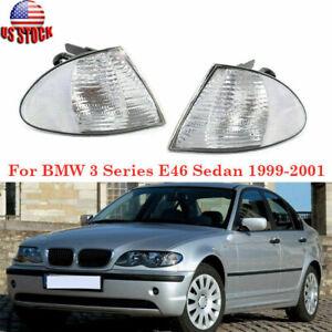 Pair Corner Marker Light Signal Lamp Housing For BMW 3Series E46 Sedan 1999-2001