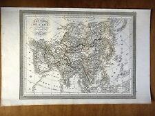 CARTE GEOGRAPHIQUE 19e - CARTE GENERALE DE L'ASIE PAR LUD. VIVIEN 1834