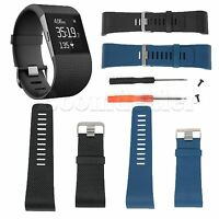 Large Replacement Silicone Wristband Band Strap for Fitbit Surge Tracker w/Tool