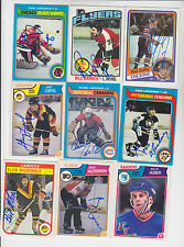 1983-84 OPC SIGNED AUTOGRAPH CARD GARY LUPUL VANCOUVER CANUCKS # 355