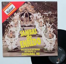 "LP Various ""Sambas de enredo - Carnaval 90"" - (TB/EX)"