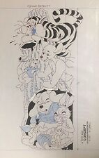 """Mike Royer Disney Orig Concept Drawing Winnie The Pooh/Tigger """"Sound Effect"""""""