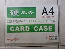 A4 Hard Plastic Card Case, Size : 297 x 210mm 硬胶套