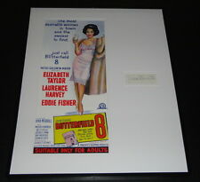 Dina Merrill Signed Framed 16x20 Photo Poster Display Butterfield 8