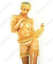 327 Latex Rubber Gummi Maid Servant Uniform Outfits Hoods Hats customized 0.4mm