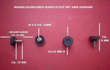 4 RÄNDELSCHRAUBEN - STELLSCHRAUBEN - KUNSTSTOFF SCHWARZ - M6 X 12 MM GEWINDE