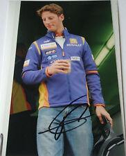 Romain décimas firmado F1 Renault Test Driver retrato 2009