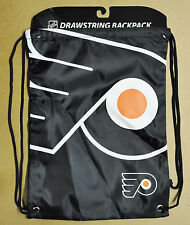Philadelphia Flyers Back Pack/Sack Drawstring Bag/Tote NEW NHL backpack BIG LOGO