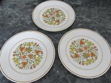 """CORELLE INDIAN SUMMER THREE LUNCHEON PLATES FLORAL 8 1/2"""" ACROSS"""