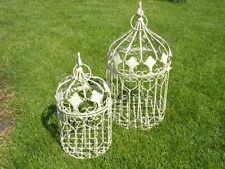 cages en fer forgé patinée pour extérieur ou intérieur, nouveau ! lot de 2 pcs