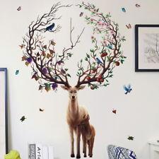 3D Xmas Elk Deer Wall Stickers bébé enfants chambre autocollants Art Decor