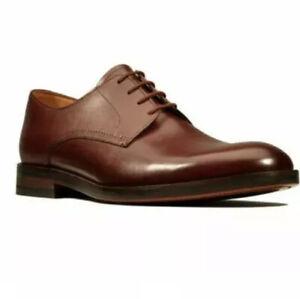 Clarks Men's Oliver Lace British Tan Leather Craftmaster Shoe UK 10.5 G