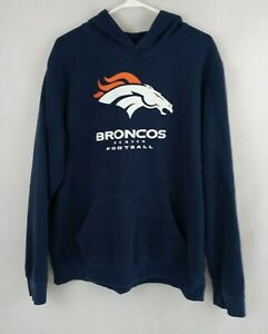 NFL Team Apparel Denver Broncos Football Hoodie Size Large