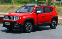 1/18 Scale Jeep Renegade Suv Red Diecast Car Model Toy Collection Gift