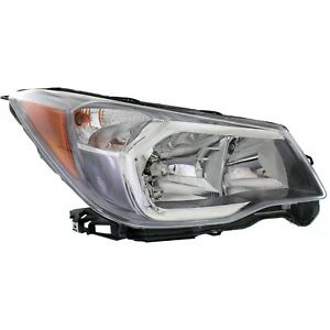 Headlight For 2014-2016 Subaru Forester 2.0L Engine Right Gray Housing With Bulb