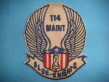 VIETNAM WAR PATCH, US 114th AVIATION MAINTENANCE BATTALION BLUE-KNIGHTS