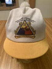 Vintage Armoured Thunderbolt 11 Mesh Hat Cap Pompom Army Military WWII