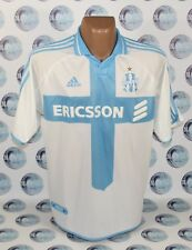 OLYMPIQUE MARSEILLE 2000 2001 HOME FOOTBALL SOCCER SHIRT JERSEY MAILLOT ADIDAS L
