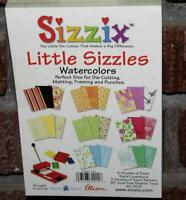 """Sizzix  *LITTLE SIZZLES """"WATERCOLORS"""" CARDSTOCK PAD*  80 Sheet  4.5"""" x 6.5""""  NEW"""