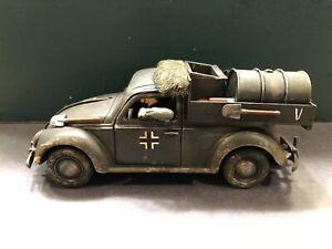 Elastolin / Lineol: German Army Supply Car, c1940. 70mm Scale