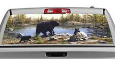 Truck Rear Window Decal Graphic [Wildlife / Black Bears] 20x65in DC47408