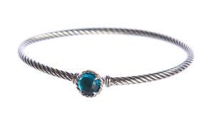 DAVID YURMAN Women's Chatelaine Bracelet with Blue Topaz 3mm $350 NEW