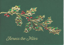 Papyrus Christmas Card - Jewel Gem Holly - Across the Miles - Close at Heart