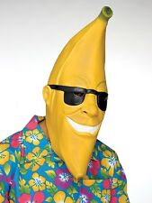 Funny Mr Banana Latex Fruit Mask Adult Halloween Costume Accessory New