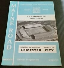 Manchester City v Leicester City F.A Cup 5th Rd Programme 05/03/66