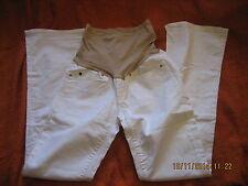 Gap 1969 Jeans maternidad bajo Bump Blanco Rrp £ 39.99 Sexy Bootcut Talla 4 (#089)
