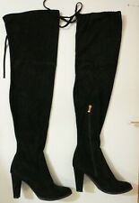 Catherine Malandrino Over The Knee Thigh High Boots Womens Size 9 Black Suede