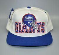 New York Giants NFL Vintage 90's Eastport Helmet Logo Snapback Cap Hat - NWT