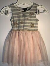 New NWT Zunie Sleeveless Tutu A-Line Dress Girls Size 4 Embellished Stars